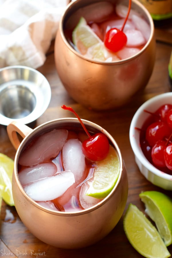 This Cherry Moscow Mule is going to be a new favorite party drink!