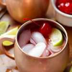 If you are looking for fun Moscow Mule recipes, make this Cherry Moscow Mule!