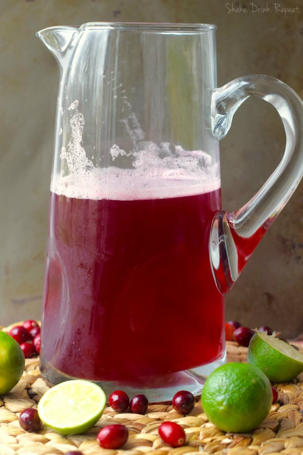 Make a whole pitcher of these cranberry beergaritas in only five minutes!