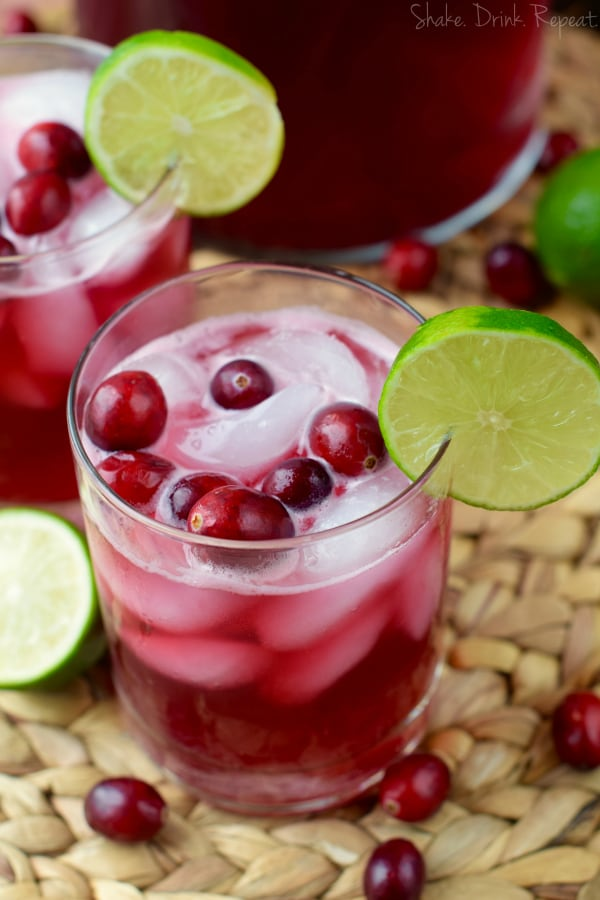 These cranberry beergaritas are only five ingredients and five minutes to make!
