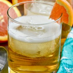 This Orange Whiskey Cocktail is the perfect citrus and whiskey combination you have been looking for! You are only a few ingredients away from whiskey happiness!