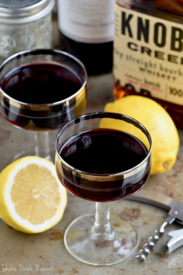 You will love all the flavors of this Wine and Whiskey Cocktail.