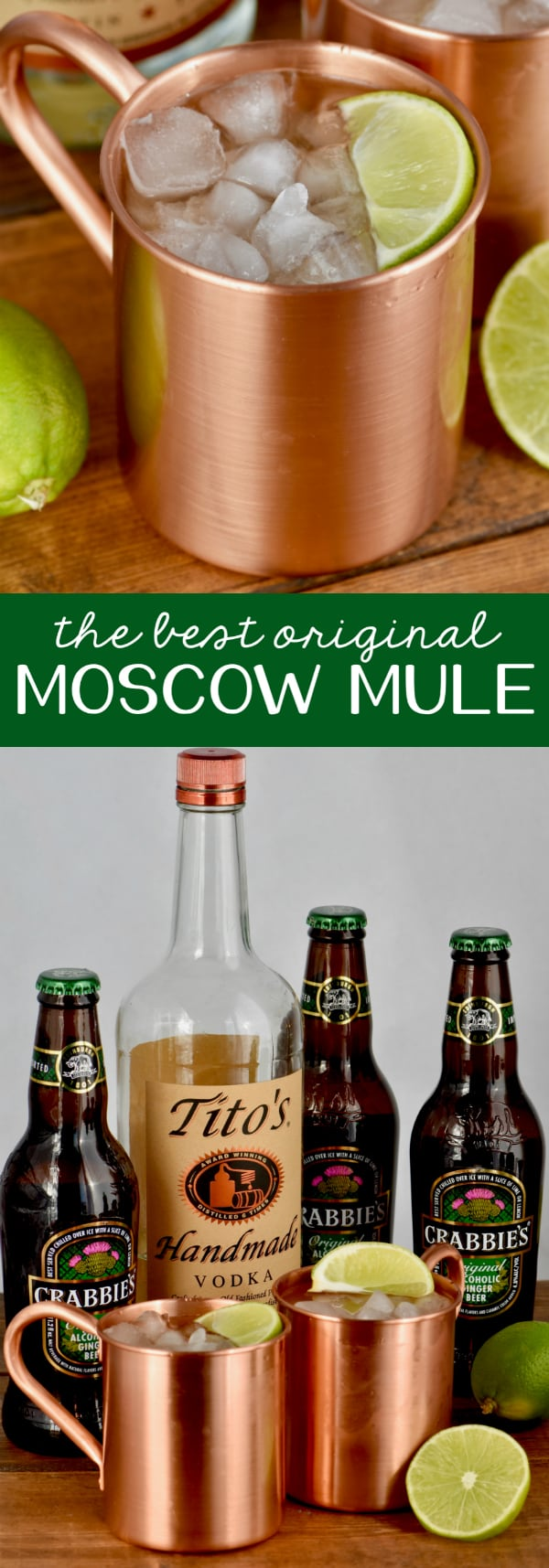 This is the best Moscow Mule Recipe! It is made with vodka, lime juice, and ginger beer, though you could replace the vodka with rum and and some mint for a fun twist!