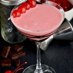 This Chocolate Covered Cherry Martini is like dessert in a glass! You will love this fancy creamy martini!