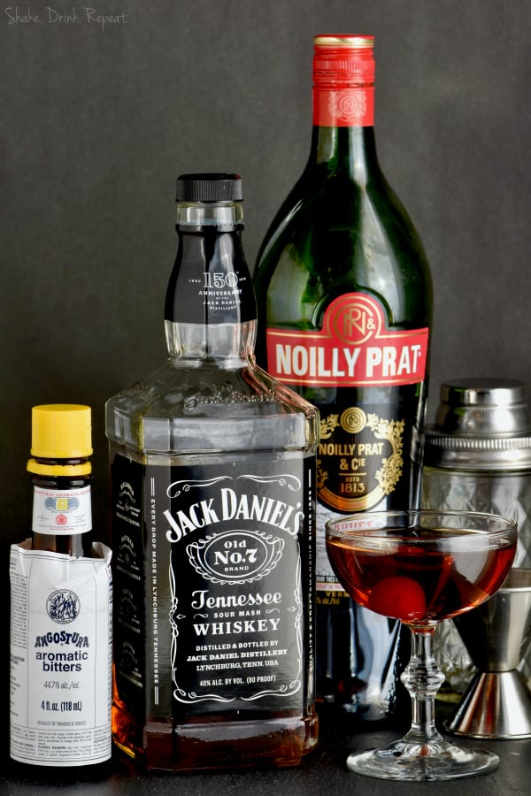 This is the perfect Manhattan drink, made with easy to find ingredients!