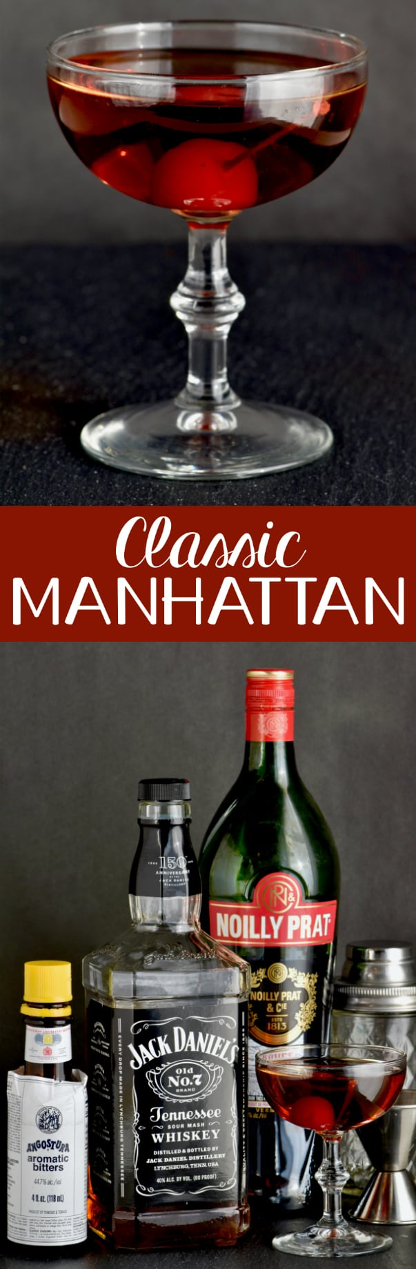 This classic Manhattan Drink Recipe is the perfect cocktail!  Made with whiskey or bourbon, bitters, and vermouth, it is as simple as it is delicious.