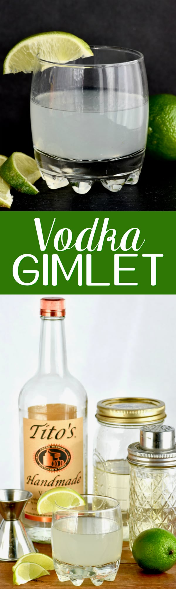 This classic Vodka Gimlet cocktail is the perfect combination of sour and sweet. With just three ingredients, you can't beat this vodka gimlet recipe!