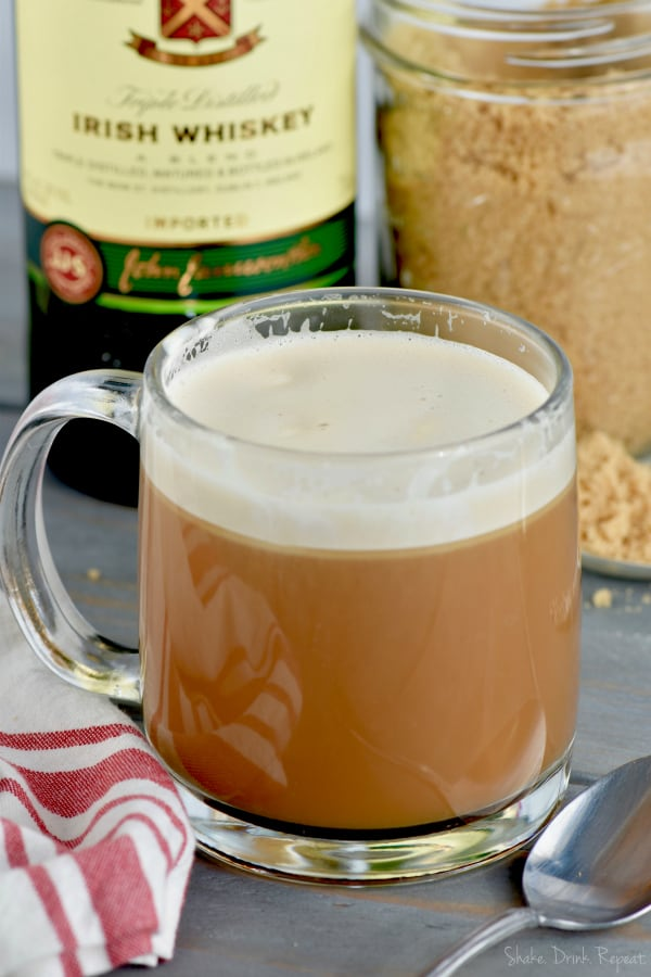 This Irish Coffee Recipe is perfect for St. Patrick's Day or any morning you need a little pick me up!