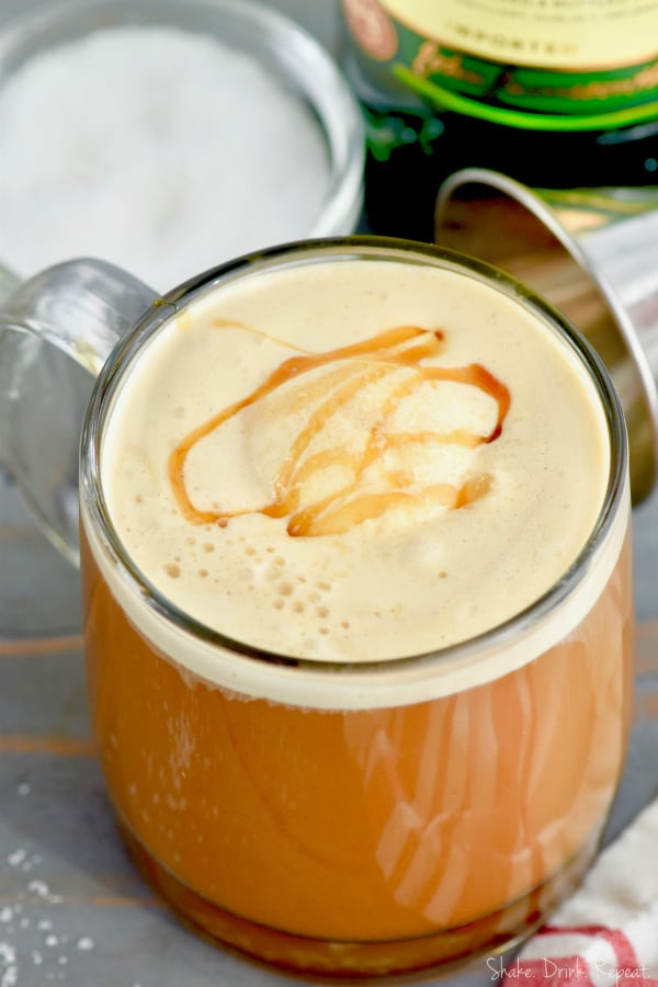 Learn how to make an Irish coffee the decadent way with this Salted Caramel Irish Coffee!
