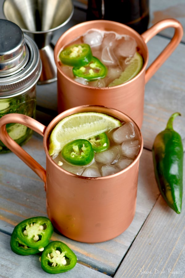 This Jalapeño Moscow Mule is the perfect slightly spicy twist on the Original Moscow Mule cocktail you love so much!