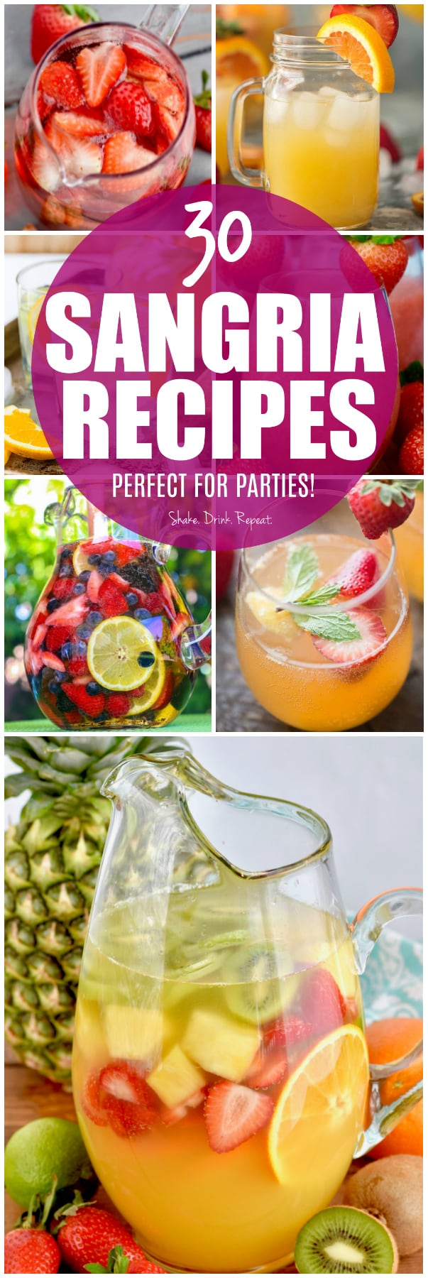 collage of sangria pictures