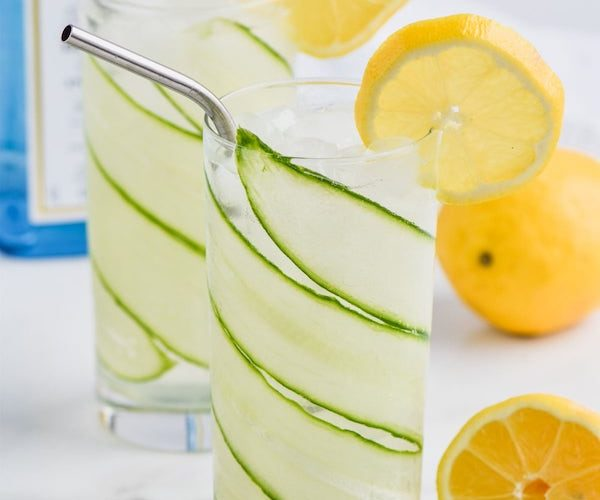 Cucumber Lemon Gin and Tonic