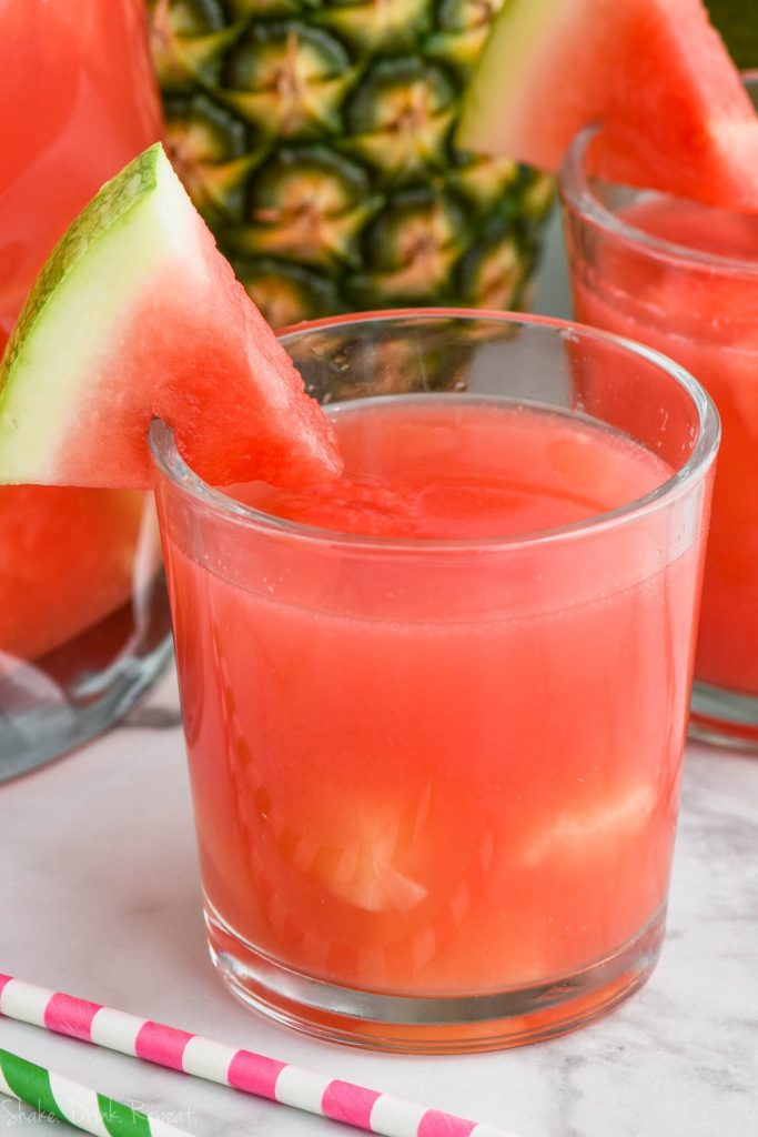 rum punch in a glass