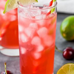 Cherry Lime Vodka Tonic