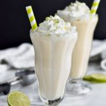 margarita milkshake recipe with lime zest and whipped cream