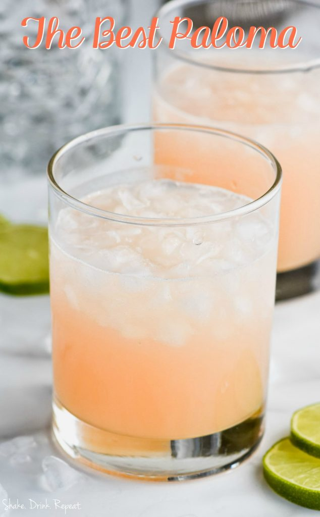 close up of the the best paloma recipe