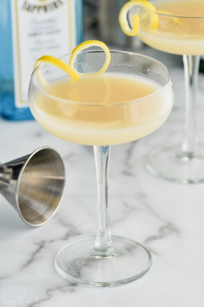 glass of saketini cocktail recipe