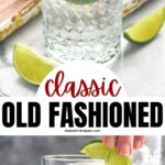 glass of vodka tonic recipe ingredients with ice and lime wedge
