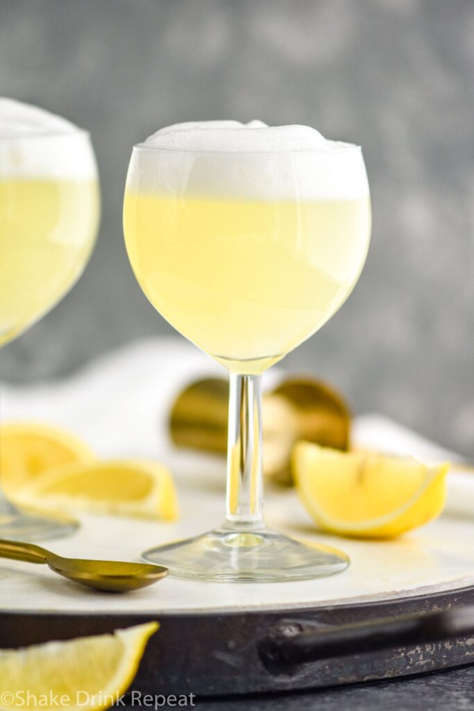 Gin Fizz cocktail in a glass