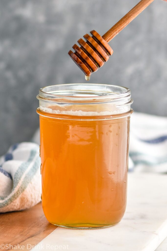 Jar of honey syrup recipe