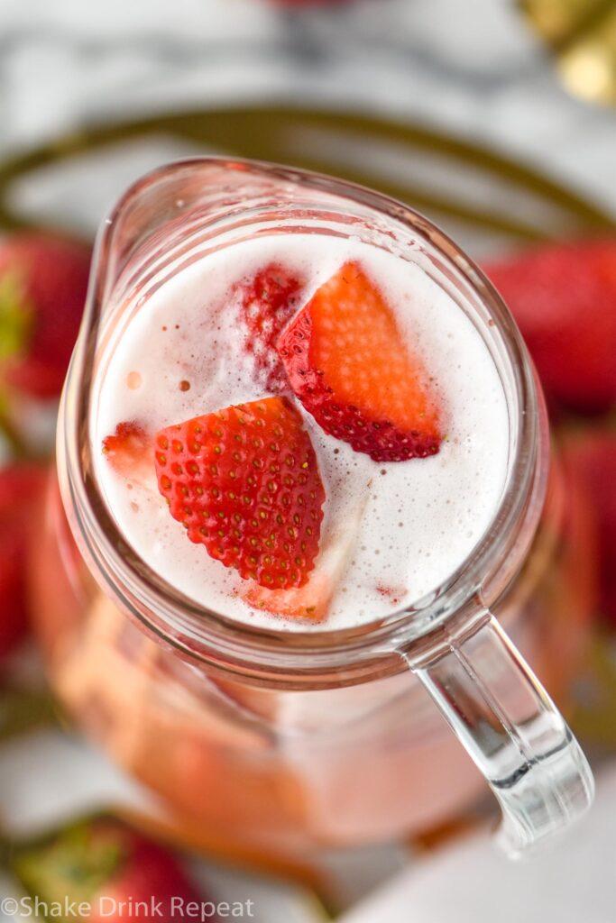 pitcher of strawberry margarita sangria recipe