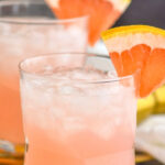 two glasses of paloma with crushed ice and grapefruit