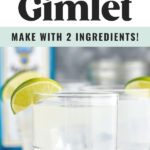 glasses of gin gimlet with ice and lime